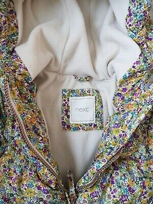 Fab girls  winter floral jacket, coat  3-4 years Next VGC