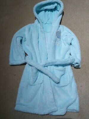 M&S Girls Sparkly Frozen Dressing Gown 2-3 Years