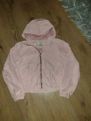 Girls Pink Hooded Jacket Age 11 -12 Years