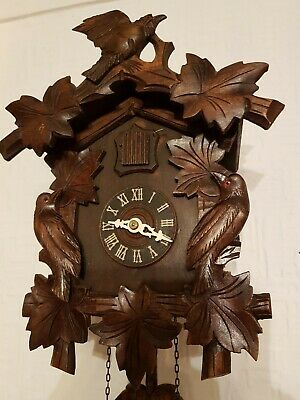 ANTIQUE  BLACK FOREST CUCKOO CLOCK /Fully  serviced  !! Very clean