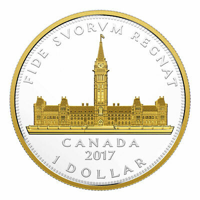 Canada 2017 1$ Royal Visit Parliament Building Renewed Silver Dollar Series Coin