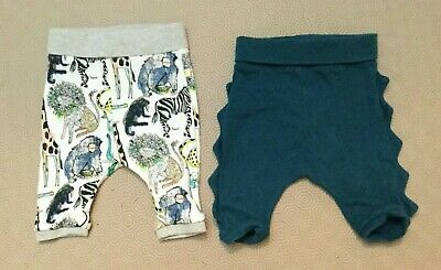 2 Pairs Baby Boys Trousers From Next  Age 0-3 Months  Ex Cond