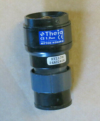 Theia CS SY110M CCTV Lens 1.7mm F1.8 Day/Night Ultra Wide Angle Nittoh Kogaku