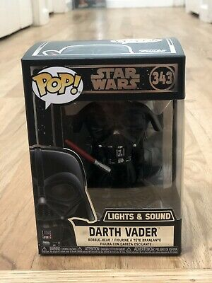 Funko Pop! Star Wars Darth Vader Light And Sound Figure Free Protector Mint
