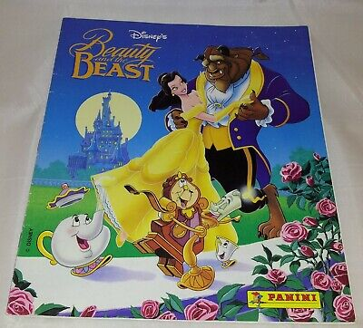 Beauty and The Beast : Vintage Panini Sticker Album : 100% Complete.