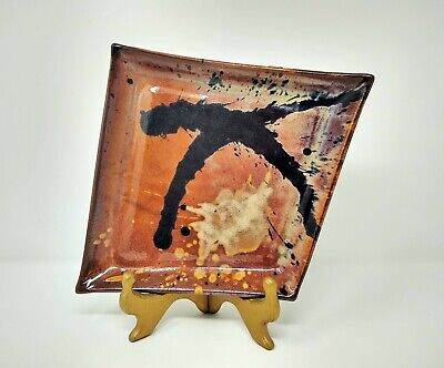 Ceramic Plate by The Wheel, Southern California Stoneware Pottery, Michael Totah