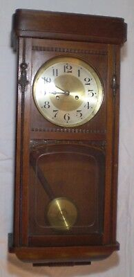 "Extra Rare ANTIQUE  Genuine GUSTAV BECKER Collectible REGULATOR 28"" WALL CLOCK ."