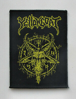 YELLOWGOAT [black] - Woven Patch Toxic Holocaust Guerra Total Syphilitic Vaginas