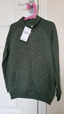 BNWT Boys 9-10 Marks And Spencer Quilted Green Jacket
