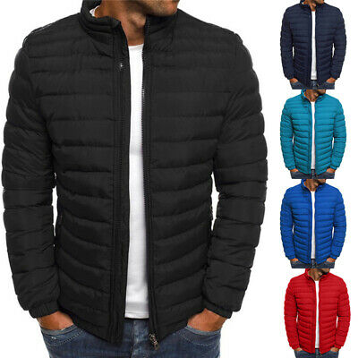 Men's Puffer Bubble Down Jacket Coat Lightweight Quilted Padded Packable Outw IO