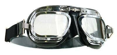 Halcyon Goggles MK10 Deluxe Curved Lens Chrome/Blk
