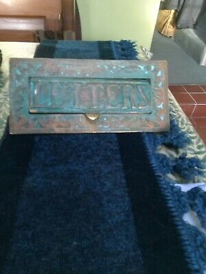 Victoria Brass Letterbox Uncleaned