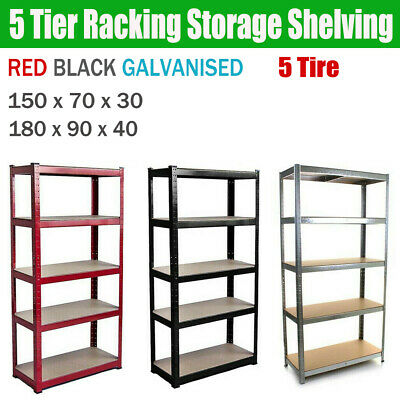 Garage Shed Racking Storage Shelving Units Boltless Heavy Duty Shelves 5Tier New
