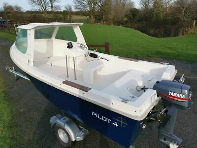 Westport pilot 4 boat, removable cuddy, Yamaha outboard, Rapide easy launch.