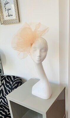 Bespoke Handmade Peach/ Blush Crin Hat/fascinator/hatinator Wedding Or Races