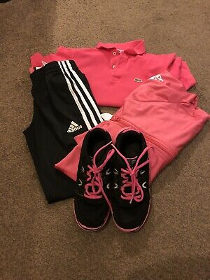 Girls Age 9 10 Years Bundle Tracksuit Adidas Karrimor Trainers UK 2 Lacoste Top