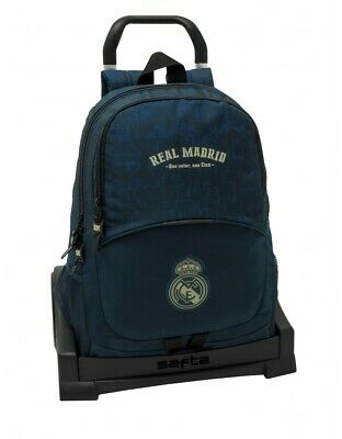 Real Madrid CF Grand Sac /à Dos Double Adaptable /à Chariot