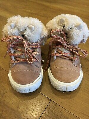 Zara Baby Winter Boots ,Toddler Sheepskin Lined EU22 UK 5.5 Trainers Shoes