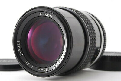 """ Almost Mint "" Nikon Nikkor Ai 135mm f/3.5 Prime MF Lens from JAPAN #1-2"