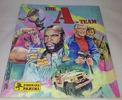 The A-Team : Vintage Panini Sticker Album From 1983 : 100% Complete