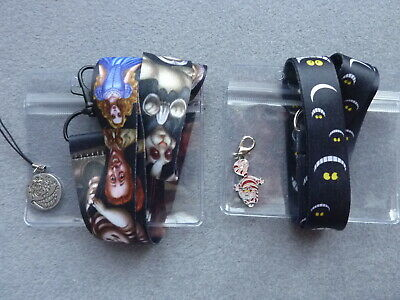 Lanyard Alice in Wonderland Cheshire Cat Charm ID Card Pass Badge Holder Strap