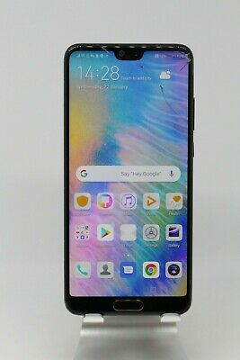 Smashed Huawei P20 Black 128/4GB Vodafone Android smartphone clearance