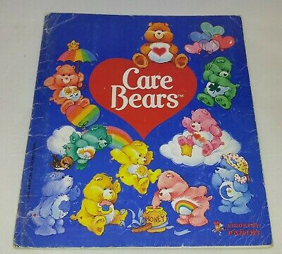 Care Bears : Vintage Panini Sticker Album From 1985 : 100% Complete.