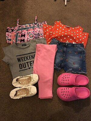 Girls Clothes Bundle Age 8-9 Years Candy Couture Next Shoes UK 2 Croc (8 items)