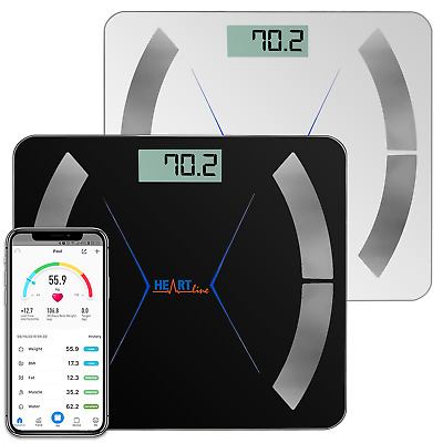 Heartline Bathroom Scales Body Fat BMI Smart Bluetooth Weighing Weight Digital