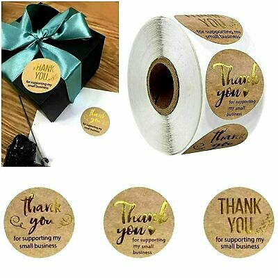 Round Thank You For Your Business Hand Made Labels Stickers Gift Food Craft Box