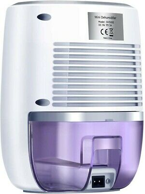 Dehumidifier with 500ml Water Tank, Portable Low Weight Whisper-Quiet Mini Air C