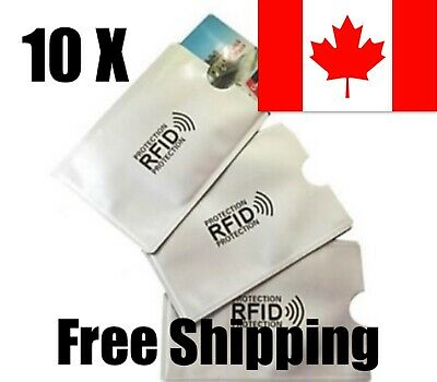 10 X RFID Sleeve Debit Credit Card Protector Secure Information from Theft