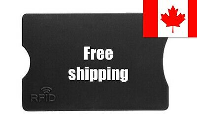RFID Credit/Debit Card Hard Plastic Sleeve Protector Information from Theft