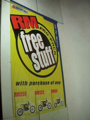 2001 Rm250 Rm80 Rm125 Free Stuff Suzuki Motorcycle Poster Used Po-258A