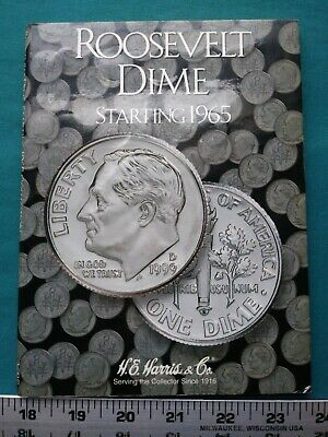 Roosevelt Dime Collection Starting 1965 - 2002 Complete Set 75 Dimes Total #5627