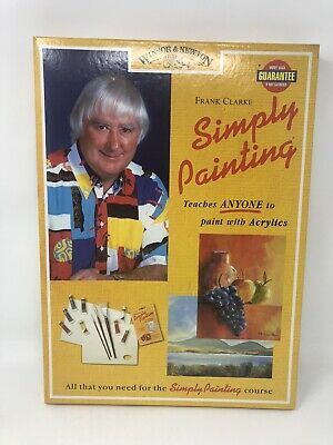 SEALED Frank Clark Simply Painting Instructional Acrylic Paint Set