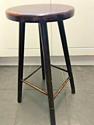 Antique Victorian Solid Wooden Stool - Excellent Condition - Original