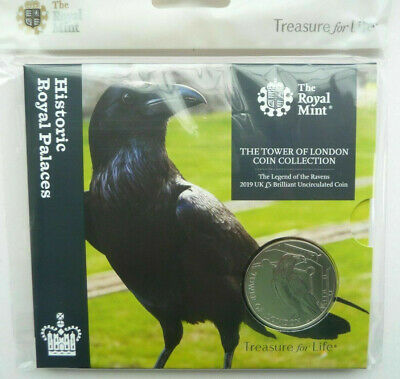 Royal Mint 2019 £5 Coin Tower of London Legend of the Raven Uncirculated sealed