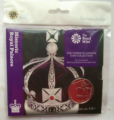 2019 Royal Mint Tower of London - The Crown Jewels - £5 Five Pound BU coin pack
