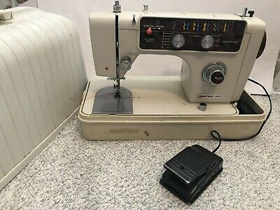 Vintage Morse 8700 Sewing Machine Working Great With Carrying Case & Pedal Rare