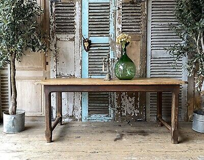 Vintage French Elm Dining Table