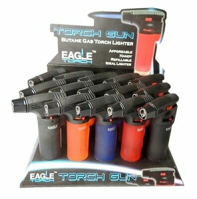 15 Pack Eagle Butane Jet Torch Cigar Lighter Windproof Refillable Bulk Wholesale