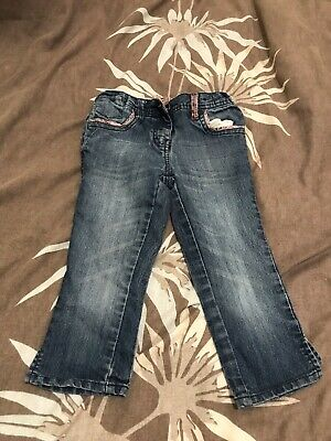 Girls denim cropped jeans age 8-9 years cherokee