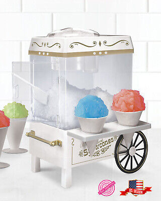 Nostalgia Vintage Countertop Snow Cone Maker Indoors Party Shaved Ice Treats