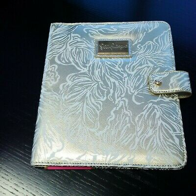 NWT Lilly Pulitzer Leatherette Gold Leaf Folio cover with pen loop ,MSRP $45