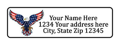 400 Bald Eagle Personalized Return Address Labels. 1/2 inch by 1 3/4 inch