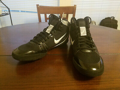 Nike Freek Limited Edition Black Silver Men's Wrestling Shoes 316403-002 Sz 8.5
