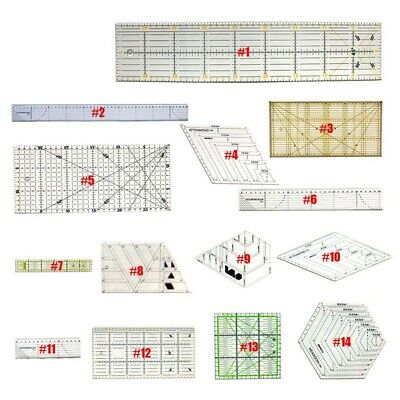 Quilting Sewing Patchwork Tool Complete Grid Cutting Tailor Craft Scale Mat Kits