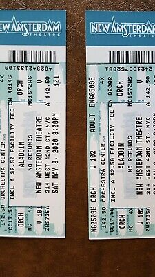 2 Tickets For Aladdin On Broadway