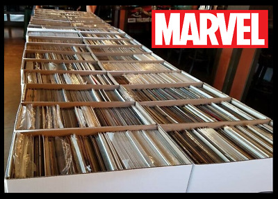 100 Comic Book HUGE lot - All DIFFERENT - Only MARVEL Comics - FREE Shipping!